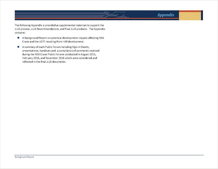 NSA Crane Background Report Appendix