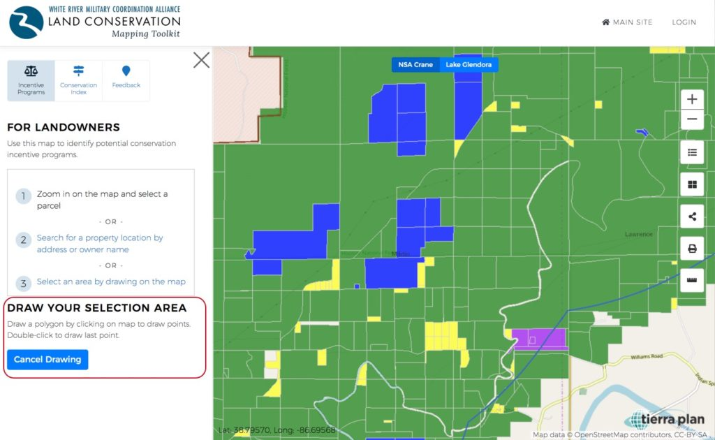 Land Conservation Mapping Toolkit | Draw