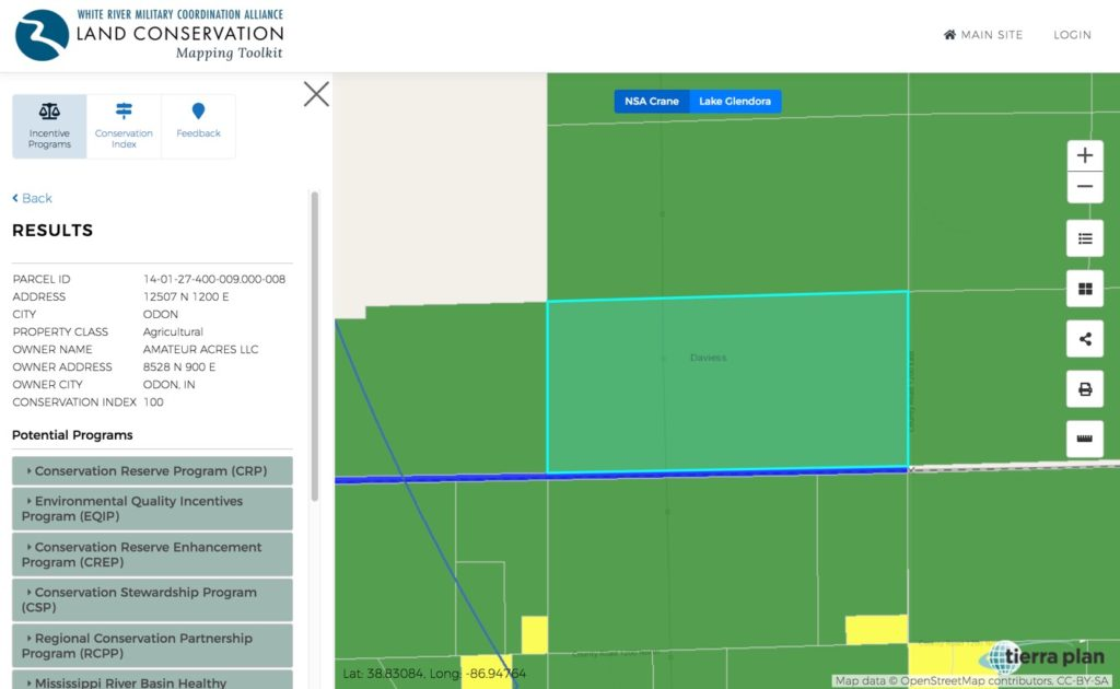 Land Conservation Mapping Toolkit | Incentive Programs