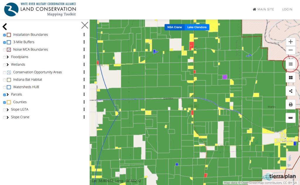 Land Conservation Mapping Toolkit | Layers