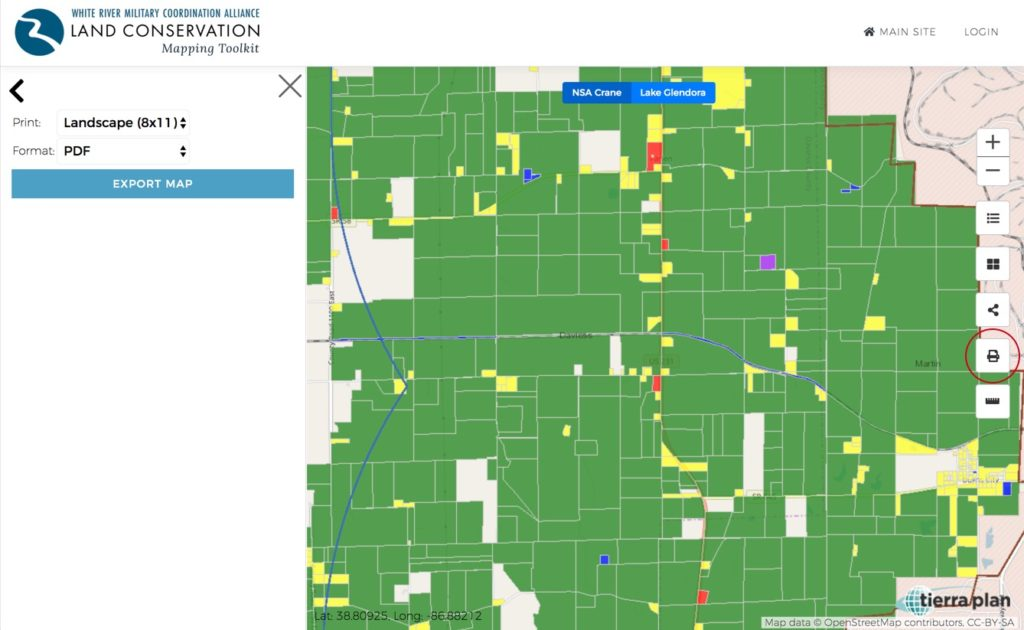Land Conservation Mapping Toolkit | Print