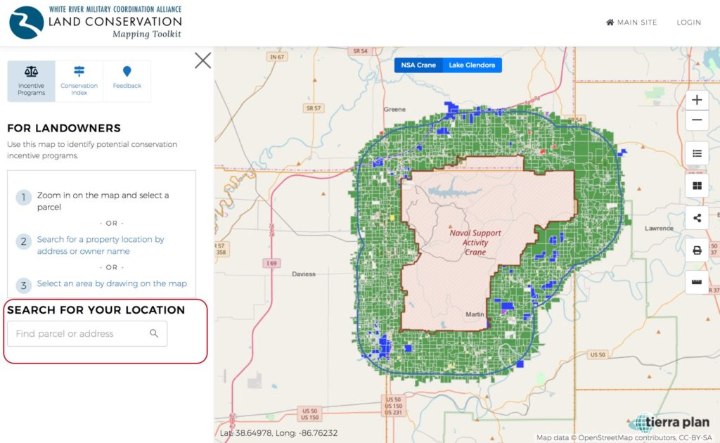 Land Conservation Mapping Toolkit | Search